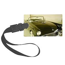 Black 1955 Ford Thunderbird Luggage Tag