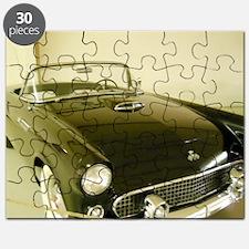 Black 1955 Ford Thunderbird Puzzle