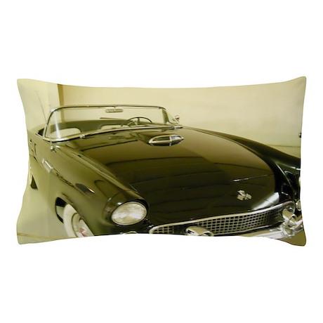 Black 1955 Ford Thunderbird Pillow Case