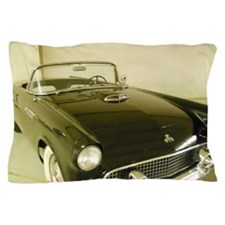 Black 1955 Ford Thunderbird Pillow Case