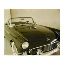 Black 1955 Ford Thunderbird Throw Blanket