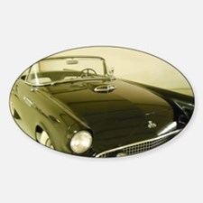 Black 1955 Ford Thunderbird Sticker (Oval)