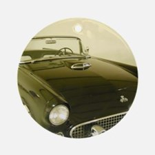 Black 1955 Ford Thunderbird Round Ornament