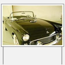 Black 1955 Ford Thunderbird Yard Sign