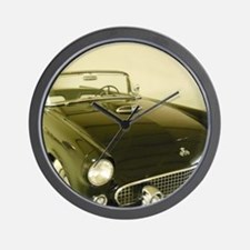 Black 1955 Ford Thunderbird Wall Clock