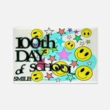 100th Day Smiles SIGN Rectangle Magnet