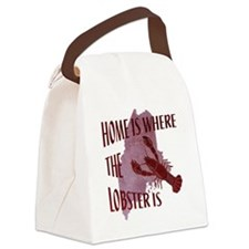 Home Is Where The Lobster Is Canvas Lunch Bag