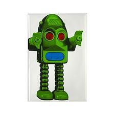 RGB Big Bang Bot green robot Rectangle Magnet