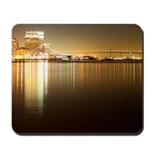 San Diego Skyline Night Mousepad