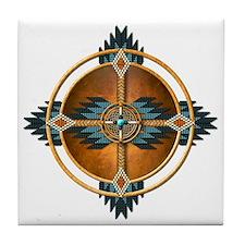 Native American Mandala 04 Tile Coaster
