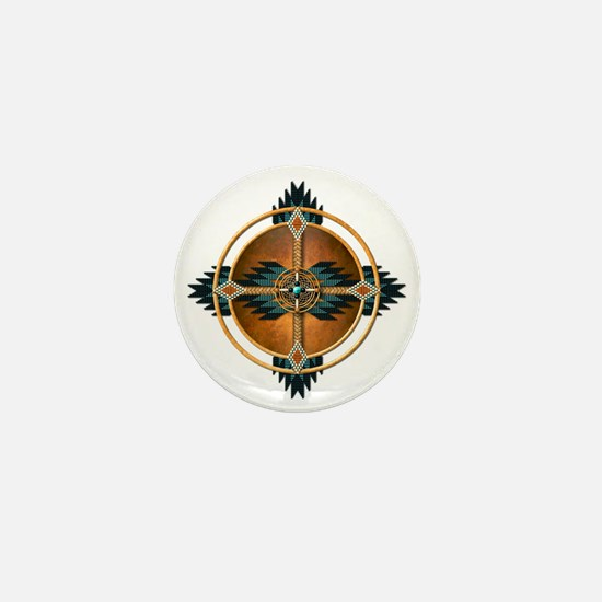 Native American Mandala 04 Mini Button