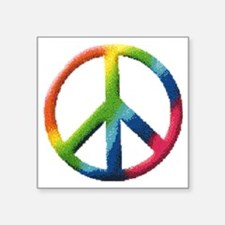 "RainbowPeace1 Square Sticker 3"" x 3"""
