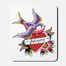 Tattoo heart mommy Mousepad