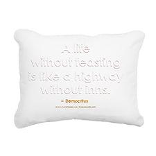 Democritus Life Without  Rectangular Canvas Pillow