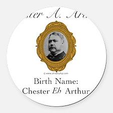 Chester A. Arthur Round Car Magnet