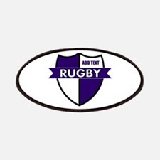 Rugby Shield White Purple Patches