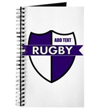 Rugby Shield White Purple Journal