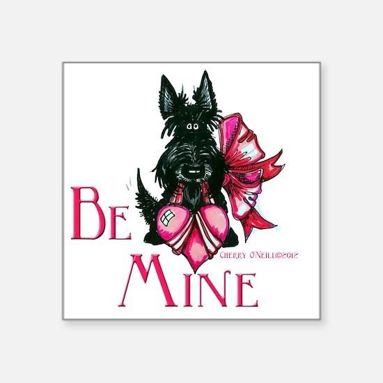 """Scottie Valentines Day 2012 Square Sticker 3"""" x 3"""""""