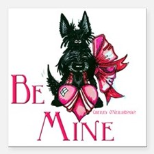 "Scottie Valentines Day 2 Square Car Magnet 3"" x 3"""