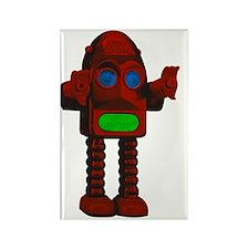 Big Bang Red retro RGB Robot Rectangle Magnet