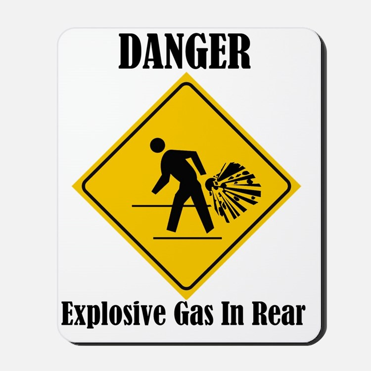 Danger Explosive Gas In Rear Mousepad