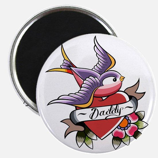 Tattoo heart daddy Magnet