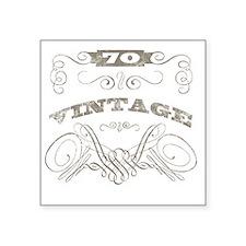 "Vintage 70th Birthday Square Sticker 3"" x 3"""