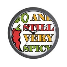 Spicy At 60 Years Old Wall Clock