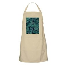 Turquoise and Navy Batik Apron