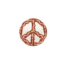 Peace Sign Bacon 2 Mini Button