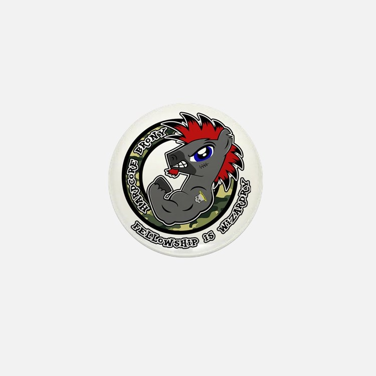 Hardcore Brony Mini Button