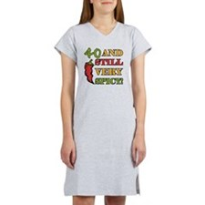Spicy At 40 Years Old Women's Nightshirt