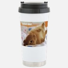 Cute bunny fell over  Stainless Steel Travel Mug