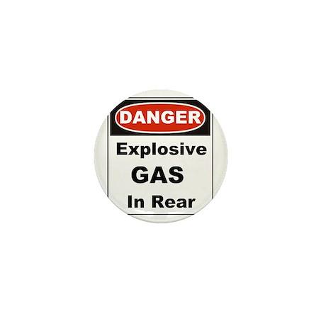 Danger Explosive Gas In Rear Mini Button