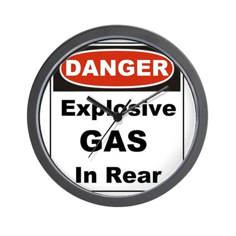 Danger Explosive Gas In Rear Wall Clock