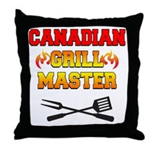 Canadian Grill Master Apron Throw Pillow