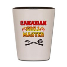 Canadian Grill Master Apron Shot Glass