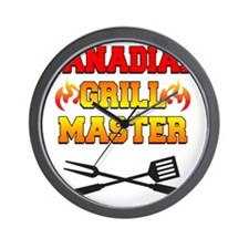 Canadian Grill Master Apron Wall Clock