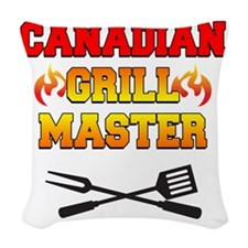 Canadian Grill Master Apron Woven Throw Pillow