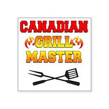 "Canadian Grill Master Apron Square Sticker 3"" x 3"""