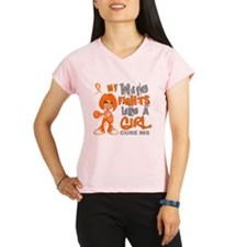 D Wife Fights Like Girl MS Performance Dry T-Shirt