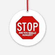 Diet Motivation Mag... Round Ornament