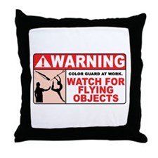 Flying Objects, Red Throw Pillow