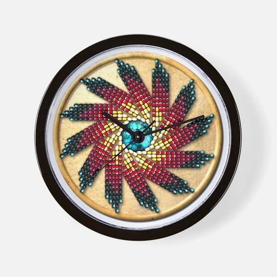 Native American Rosette 17 Wall Clock
