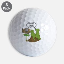 Oh Shit, Noah is Gone Golf Ball