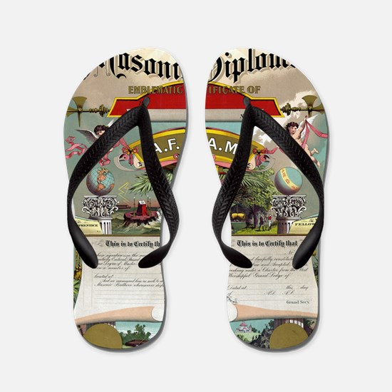 mason art Flip Flops