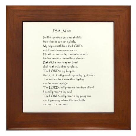Psalm 121 Framed Tile