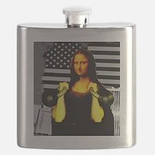 Mona Lisa Hits the Bells Flask