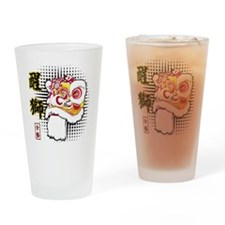 Futsan Lion Drinking Glass
