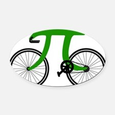 Pi Bike green Oval Car Magnet